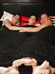 Conner Bradley is one favourable lad in this threway with Tyler Woods and Andrew Austen gay twink orgy