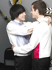 When the emo twink rides his prom date, Conner gives him the reach around; wanking Tyler's cock as this guy bounces on his dick gay twink dick at