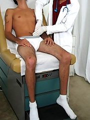 The doc told me that he wanted to take my temperature, and he had me get on all fours cock suck gay twink ass lick