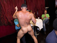 Gay male strip groups and male masterbation groups at Sausage Party