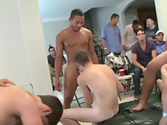 Male gay art group and gay group sex mykonos at Sausage Party
