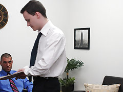 Swallowing old men cum gay s and twink testicle at My Gay Boss