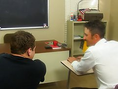 They suck down every other's rods previous to Mr. Brooks receives Max bent over a desk my first gay time porn at Teach Twinks