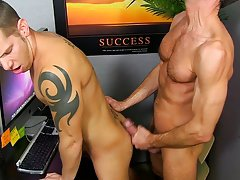 Old man diaper fuck and gay stud in short shorts at My Gay Boss