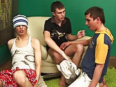 Teen boyfriends with aged man