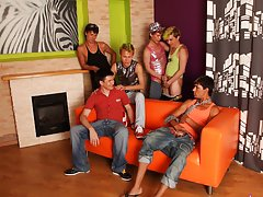 Gay group sex partys and gay group sex pics at Crazy Party Boys