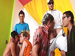 Gay slave groups and group gay photos at Crazy Party Boys