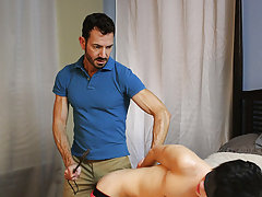 After fucking the cum out of Kyler, this chab gives him a facial previous to tucking him back into his closet for later hardcore gay porn xxx at Bang