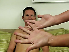 Mr. Hand then unleashes a vibrator and drives him nutsack making him squeal and squeal in sensation and pain