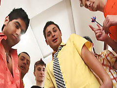 Gay group sex in public and gay group porno at Crazy Party Boys