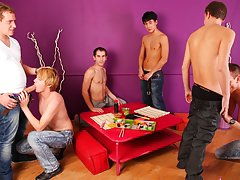 Gay group sex in public and male group free gay tgp at Crazy Party Boys