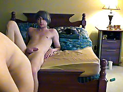 Two young twinks in classroom porn vids and male circle jerk masturbation - at Boy Feast!