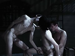 Gay sex group and gay group porno - Gay Twinks Vampires Saga!
