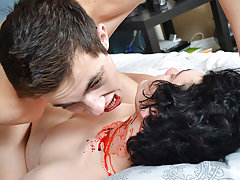 Teen boys dp massive dick porn and college twinks that swallow cum - Gay Twinks Vampires Saga!