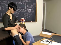 They discover a teacher's desk and Jayden bows down to acquire Jae's large cock naked twink boy at Teach Twinks