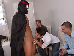 Gay group sex xxx and gay groups jocks older younger studs at Sausage Party