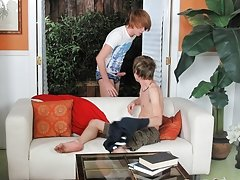 Naked twink desperate to piss video and twink first auditions at Teach Twinks