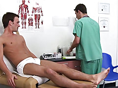 As I was examining his penis, he started getting hard and I notice that he's very sensitive in this area guys swallowing own cu