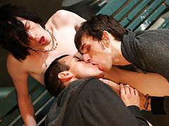 Gay leather groups and gient gay group orgy - Gay Twinks Vampires Saga!