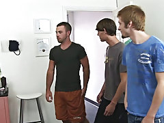 I entered the waiting room, and I witness three super hot guys waiting to capitulate there sperm. I didn't expect so many folks to arrive all at