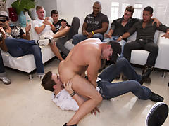 Gay mykonos group sex fotos and gay orgy group at Sausage Party