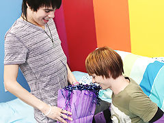 Twink sucking dick and russian gay twink at Boy Crush!