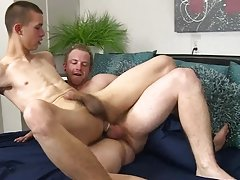 Close up anal cum thumbs and twink boy gets mouth filled with load of cum pic