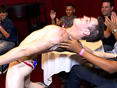 Men group masterbating and total gay group sex at Sausage Party