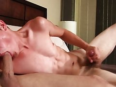 Naked twink stripper and huge gay cock secret blowjob