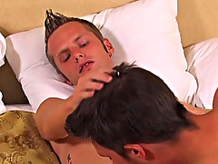 Alex and Nick are in the midst of a hot raunchy sex session, Alex is sucking hard on Nicks super hot twinky dick