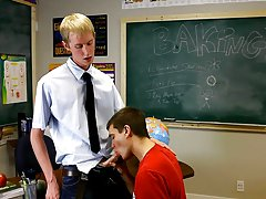 Jordan is into that and soon can be seen on his knees giving his teacher a blowjob gay twink watersports at Teach Twinks