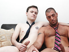 A penis covered in cum and florida is black gay dick at My Gay Boss