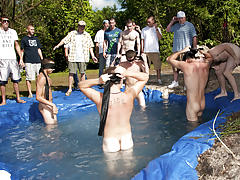 I mean its not embarrassing enough playing naked in a nasty fake pool fraternity gay group se