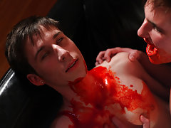 Twink fucked so hard he cums and hot twink showing off his ass - Gay Twinks Vampires Saga!