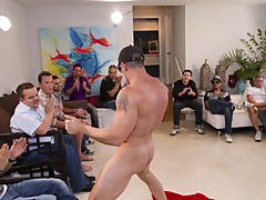 Gay male group sex pictures and group gay blowjob at Sausage Party