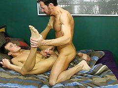 Big white dick on chubby tall guys and sexy black gay porn kiss at My Husband Is Gay