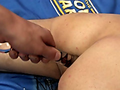 Andy Kay seems to be in control at first in this hawt duo, using a sex-toy on Brandon's constricted booty in advance of pounding it hard