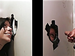 Another Guy Sticking His Cock Through The Wall huge cock blowjobs gay