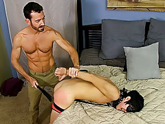 Hot ginger men and black man with big dick chained up at Bang Me Sugar Daddy