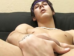 Check out Lexx Jammer's sexy wank solo his first gay sex ful at Boy Crush!