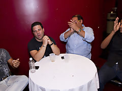Male mutual masterbation group and anal group orgy gay at Sausage Party