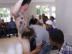 Gay group masturbation and long gay group sex at Sausage Party