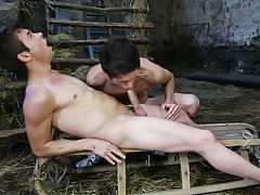 Gay porn male twink drinks dads piss and gay twink feet lick at Staxus