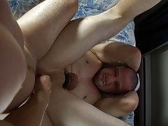 Hairy armpits hunk and emo gay eats cum at Bang Me Sugar Daddy