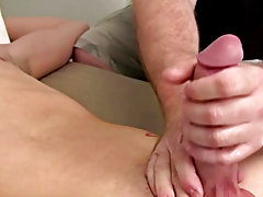 I loved how his tight abs worked as I got him to begin rocking his cock back and forth within my hands enhancing male masturbation