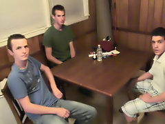 Gay group sex parties and group male masturbation