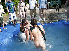 There is nothing like a nice summer time splash, especially when the pool is man made and ghetto rigged as fuck gay nude wrestling groups