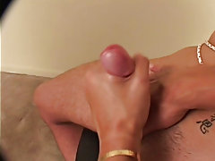 Mr. Hand continues to wank that beef with first one hand and then 2 until Shane cant take it anymore and explodes his sexy spunk load pregnant sex rub