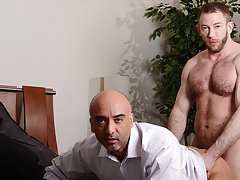 Gay muscular man piss and rim and fist and fucking hot penis pic at My Gay Boss