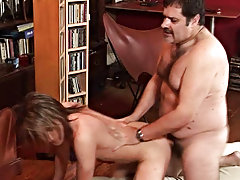 After some hawt and sloppy making out, the twink got his able mouth busy with the man's pulsing member hot gay assfucking twink